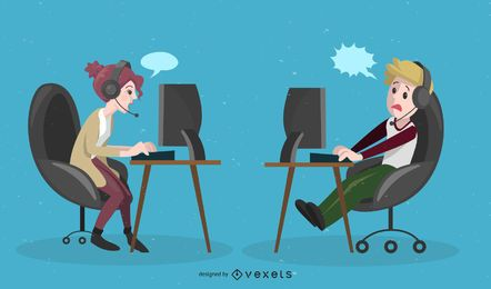 Call Center Man & Woman
