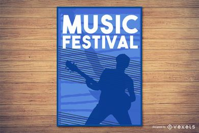 Música y vida nocturna Flyer Vector elementos de diseño