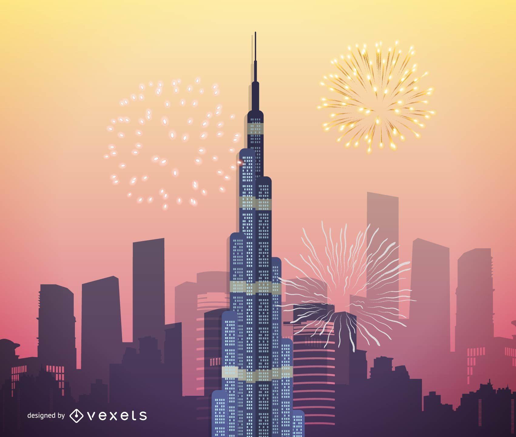 Burj Khalifa Vektorgrafiken Dubai höchster Wolkenkratzer