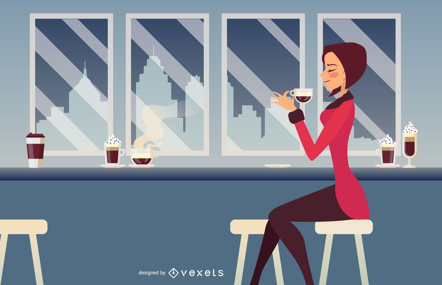 Vector Girl Bar 2