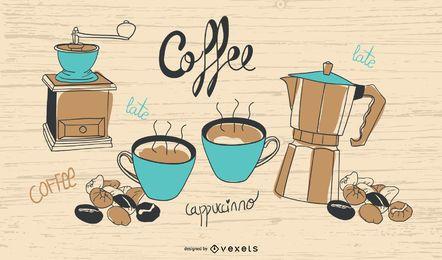 Hora del café de la vendimia