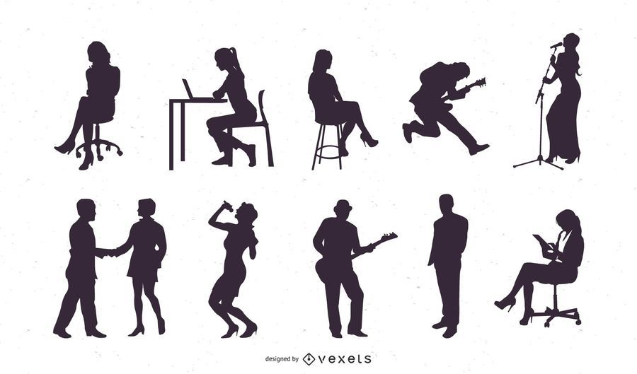People Silhouette Set