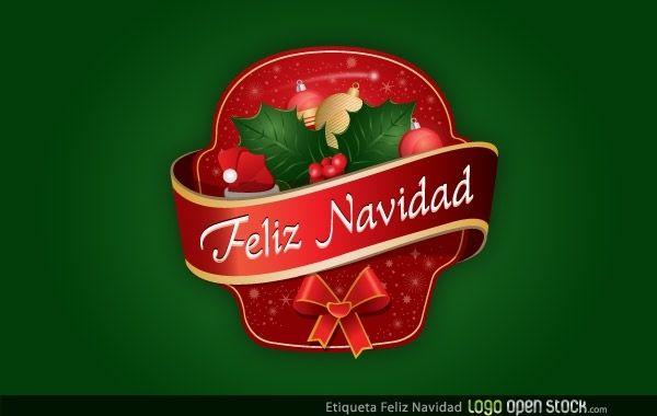 Etiqueta Feliz Navidad
