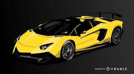 Vector de coche de carreras