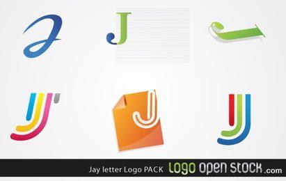 Coleção de logotipo de letra Jay