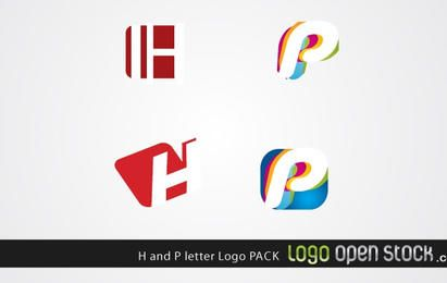 Logo de la letra H y P