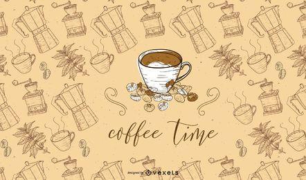 Fondo de la hora del café