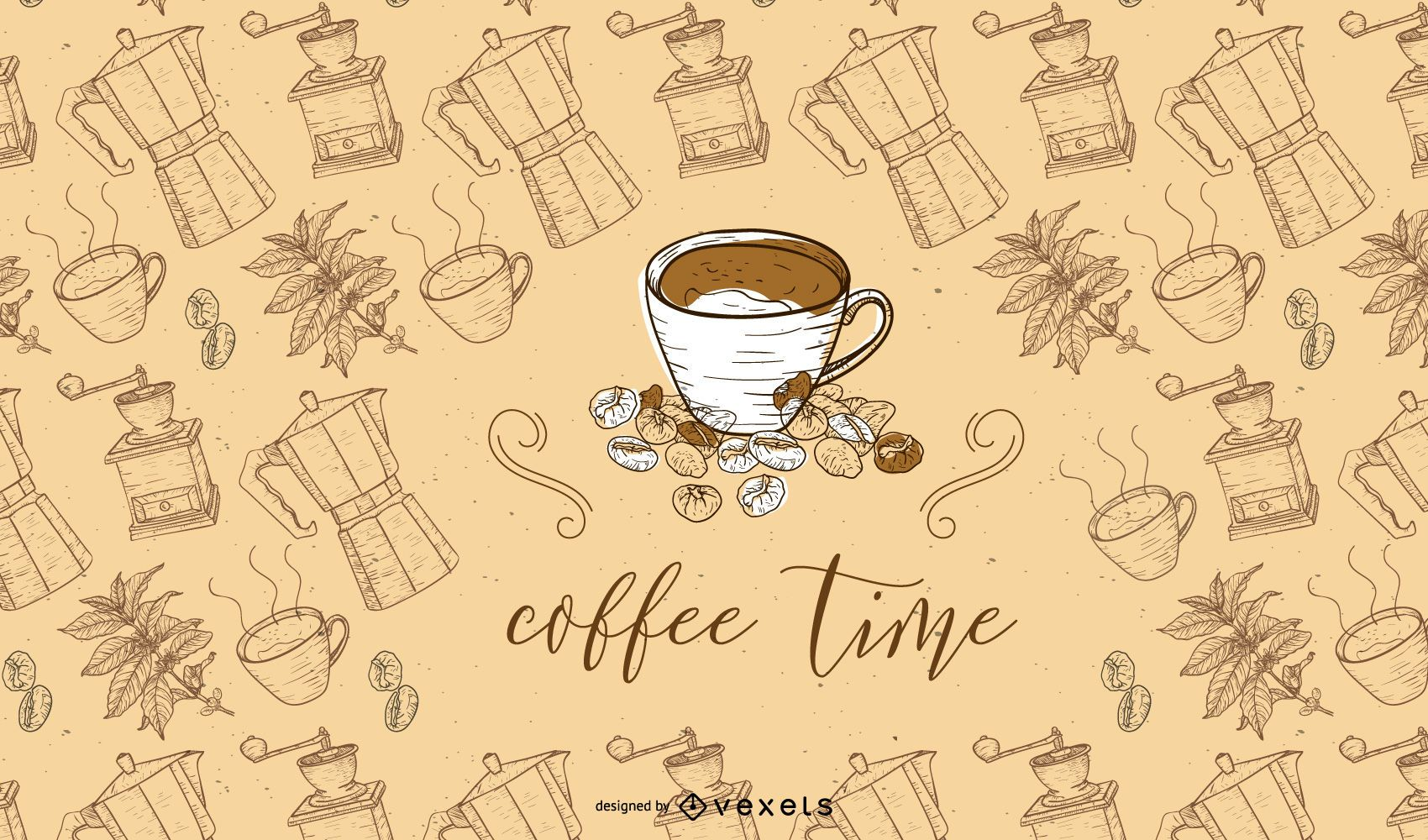 Fundo da hora do café