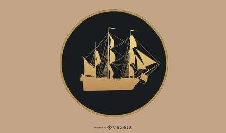 Goldenes Schiff