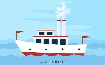 Steamboat no rio Mississippi