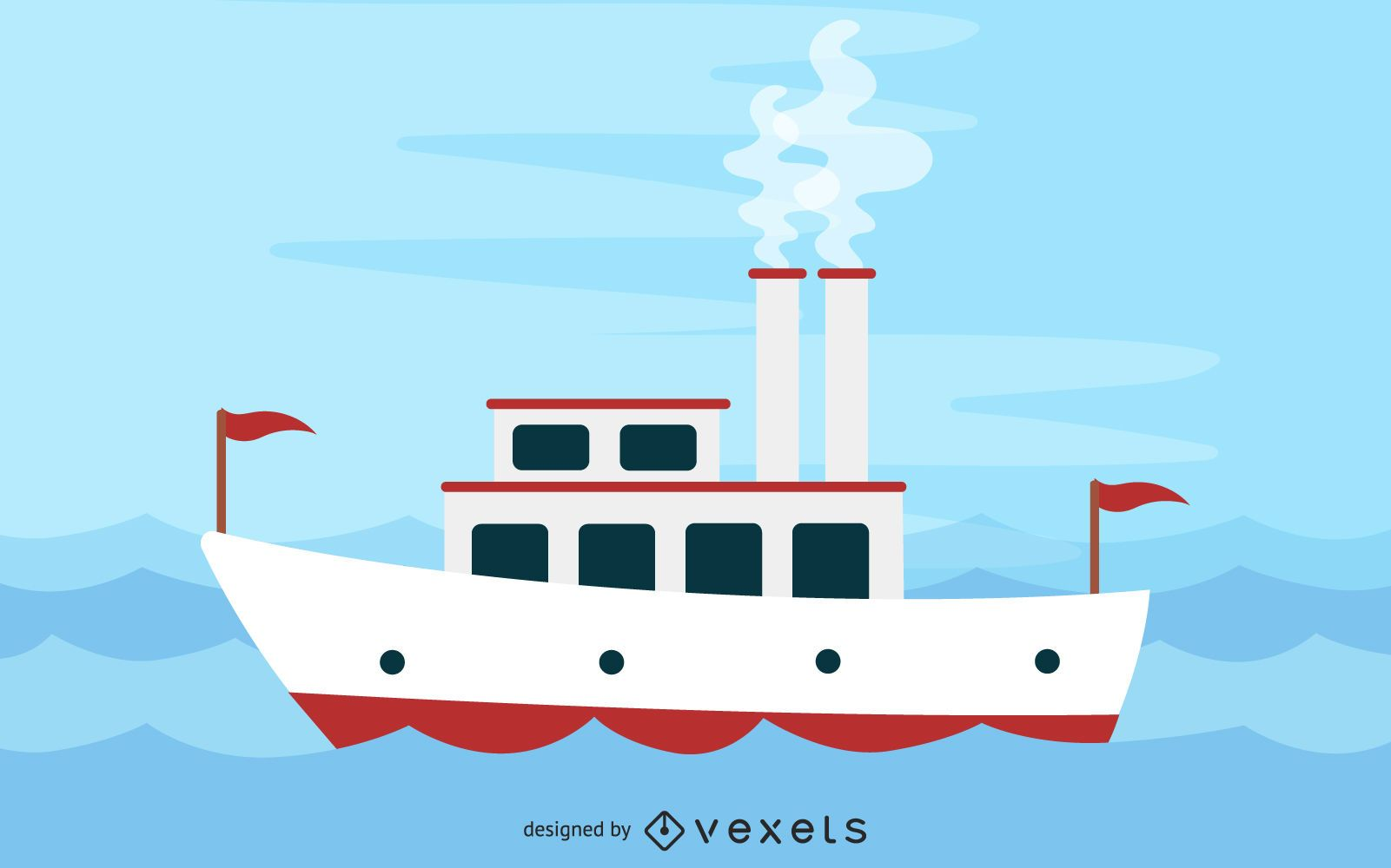 Barco de vapor en el río Mississippi