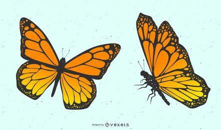 Par de borboletas