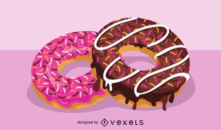 Delicious Doughnut Illustration