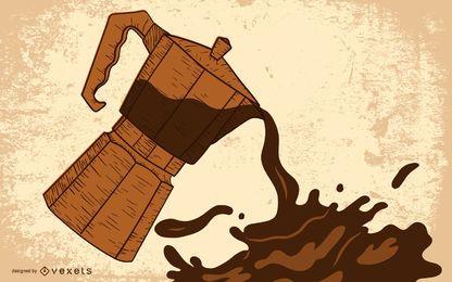 Pingando feijão de café