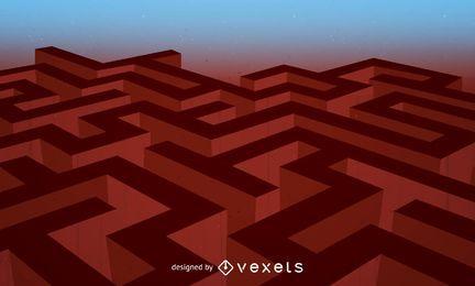Labyrinth-Vektor