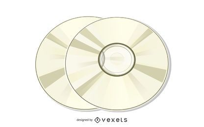 Compact Disk Illustration