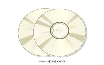 Ilustração de disco compacto