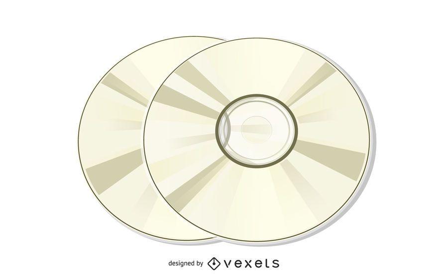 Compact Disk Illustration