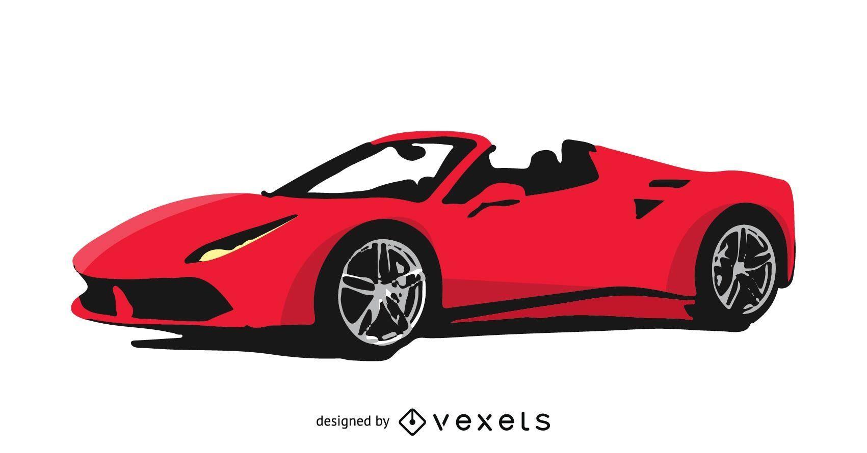 Ferrari ilustrado gratis