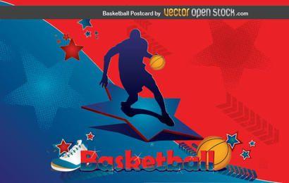 Basketball-Postkarte