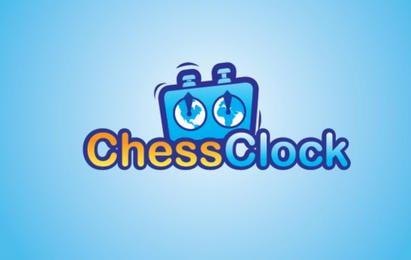 Logotipo de reloj de ajedrez
