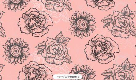 Patrón de flores de diseño de moda