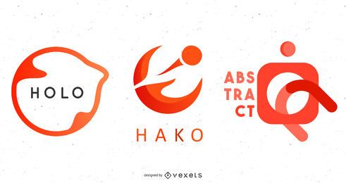 Rotes Logo-Vorlagenpaket