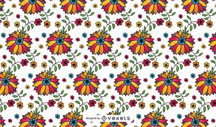 Showy Seamless Floral Vector