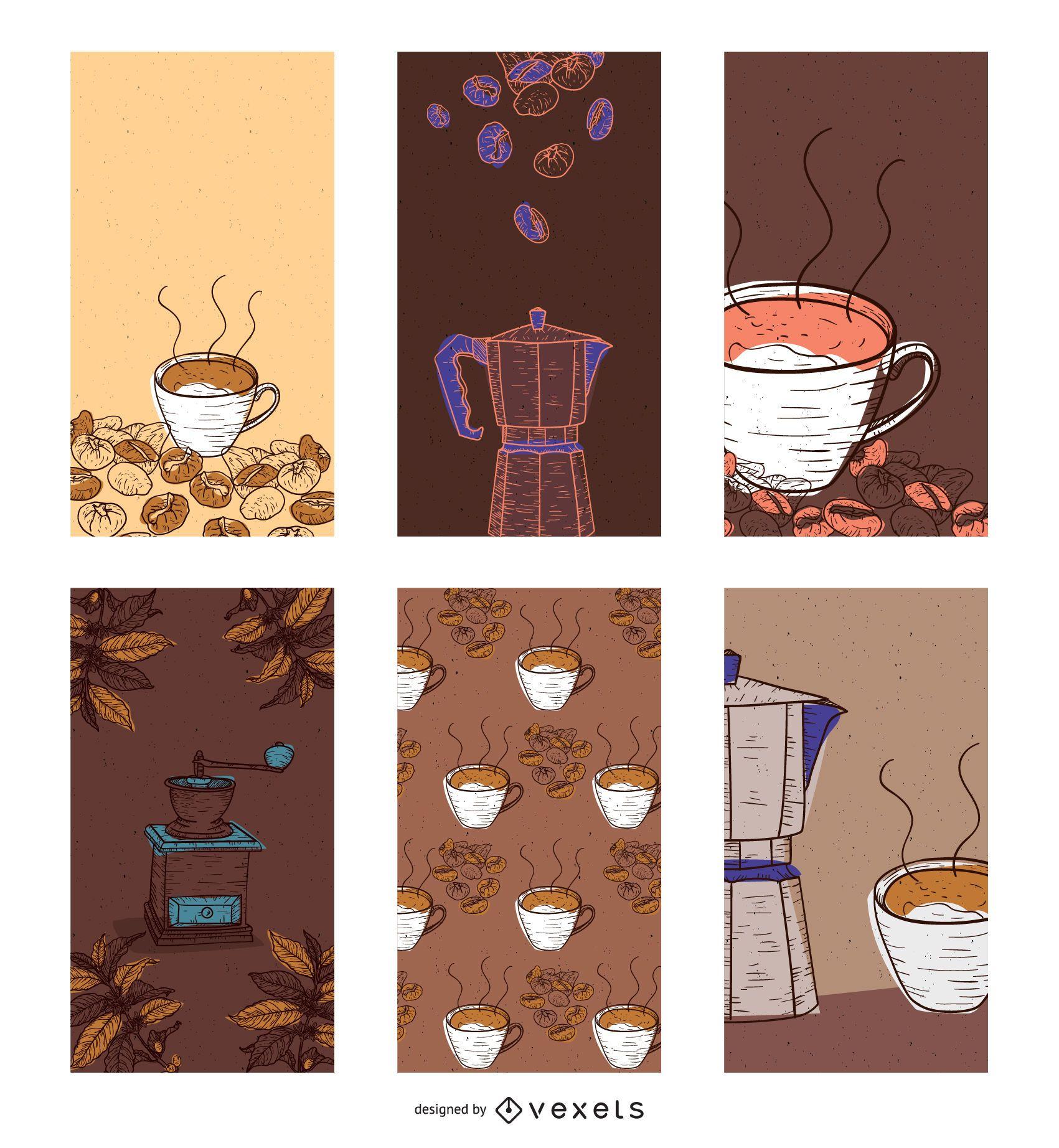 Banners de café de vector