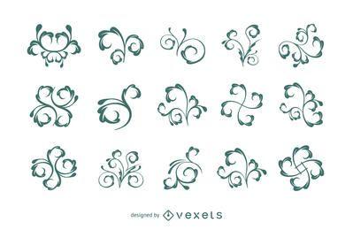 Elemento floral ornamentos