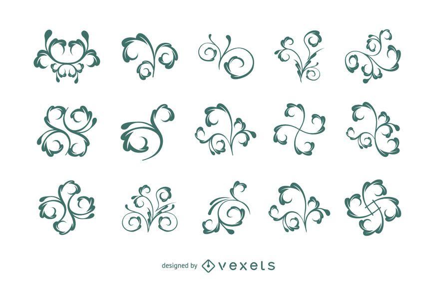 Blumenverzierungen Element