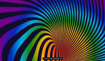 Fundo de vetor de arco-íris em espiral
