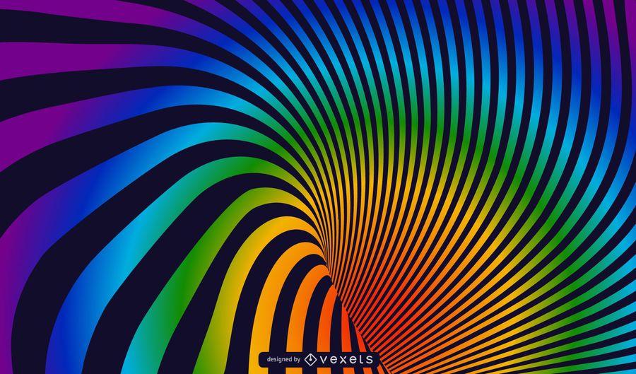 Spiral Rainbow Vector Hintergrund