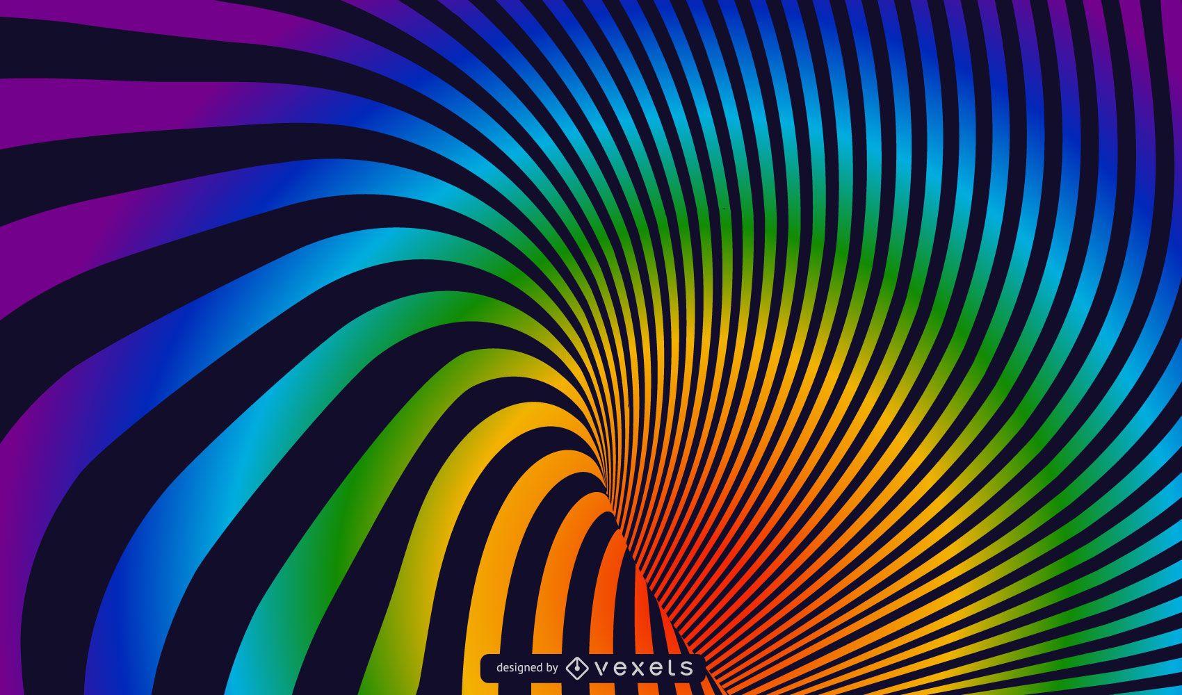 Spiral Rainbow Vector Background