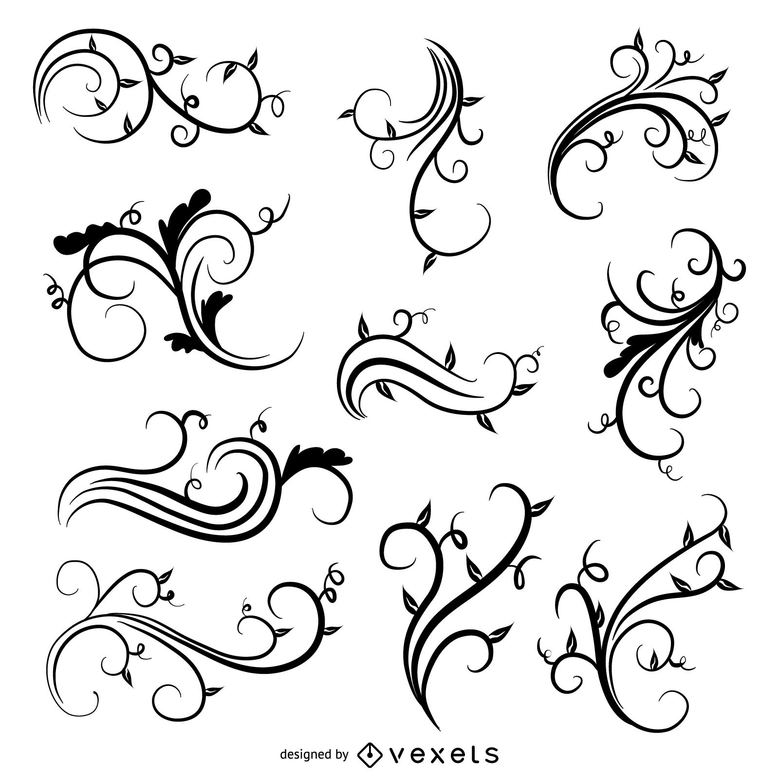 Vector Vintage swirls for Designs