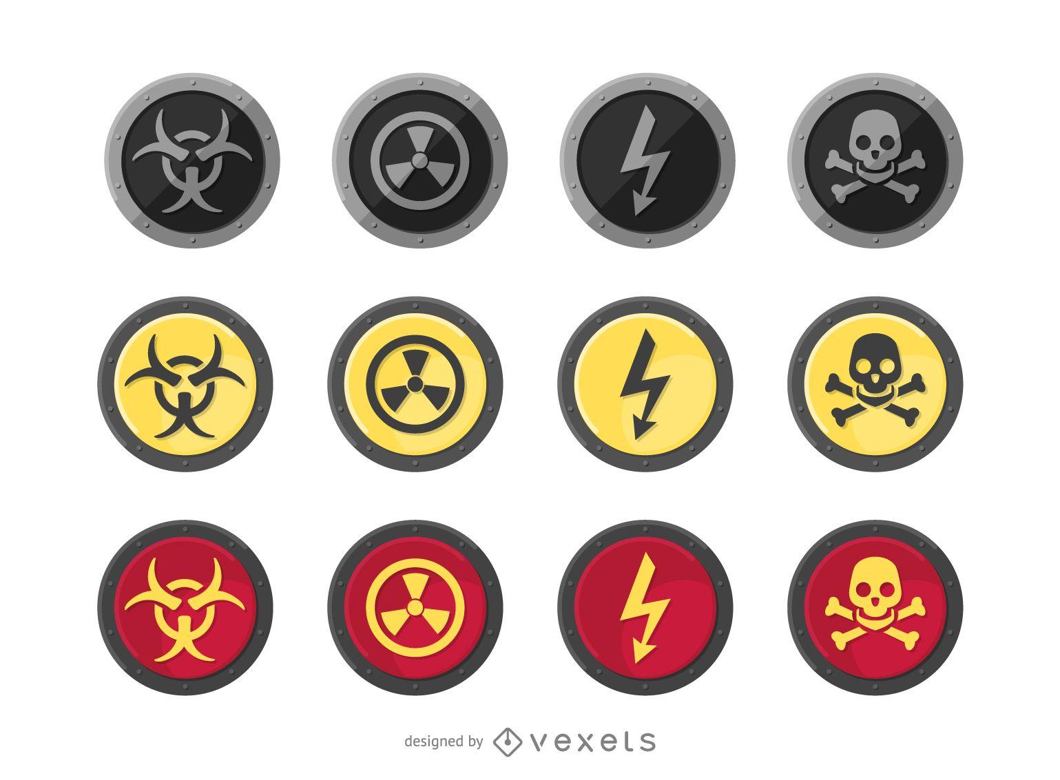 Advertencia de radiación redonda