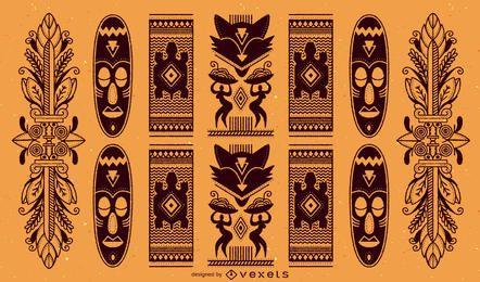 Patrón africano tradicional