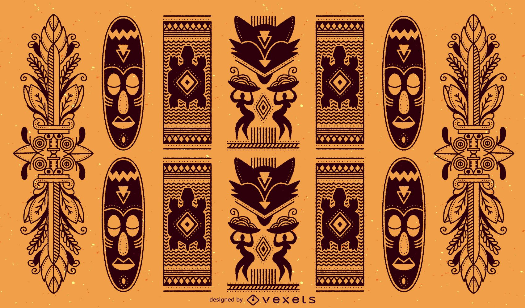 Traditional African Pattern - Vector download Traditional African Patterns