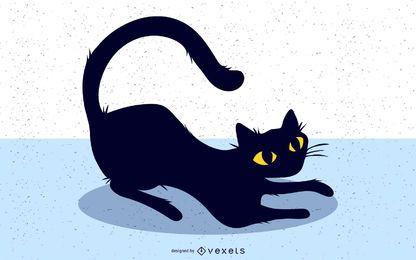 Schwarze Katze Bild 2