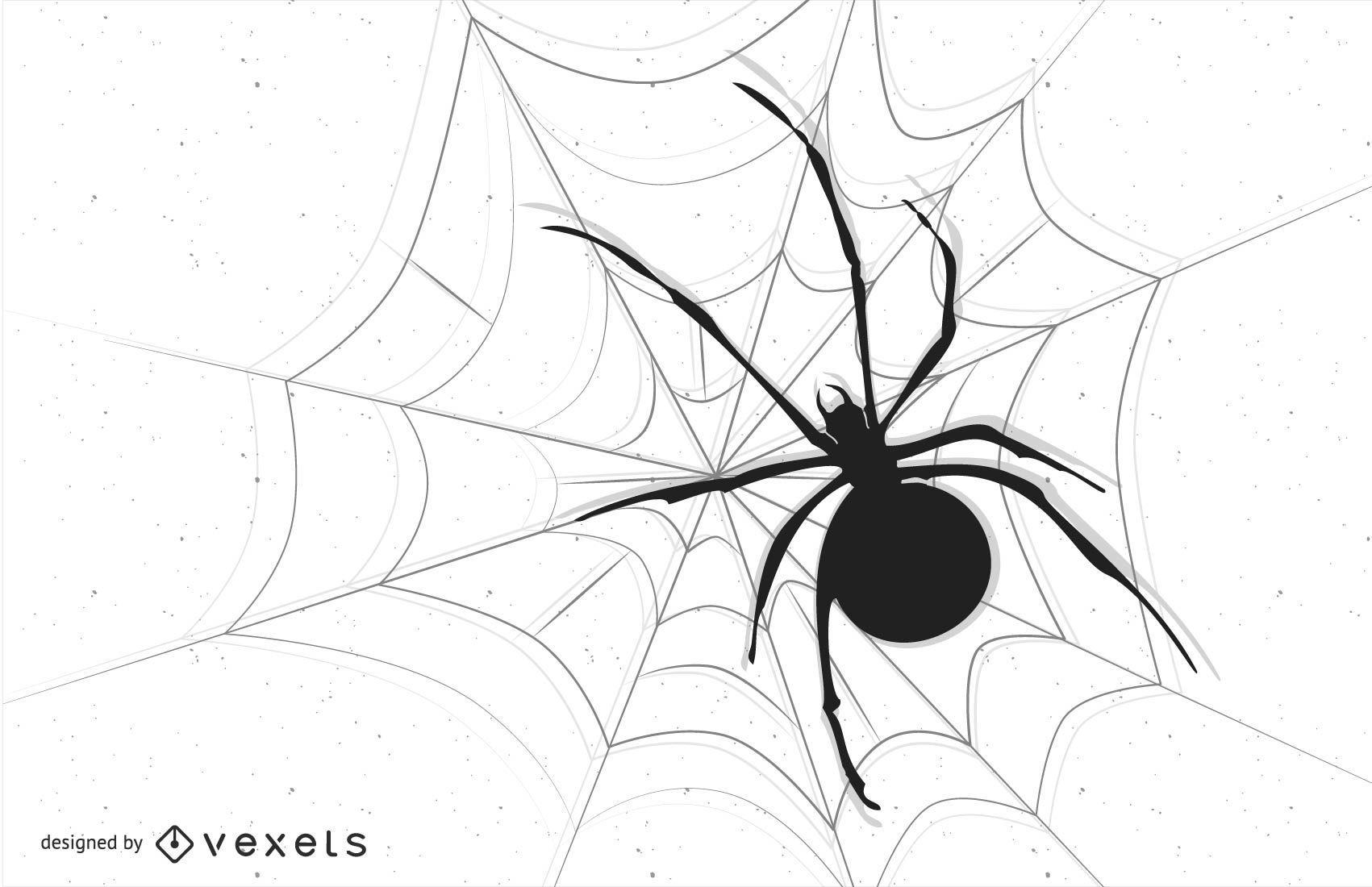 Imagen vectorial de araña