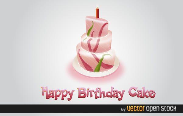 Feliz cumpleaños pastel 3d