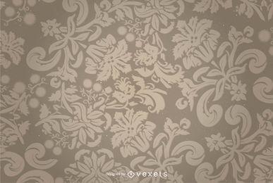 Blumenverzierung-Vektor-Hintergrund