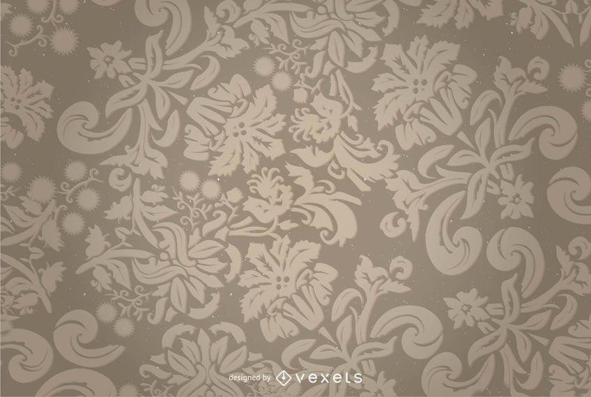 Fondo floral del vector del ornamento
