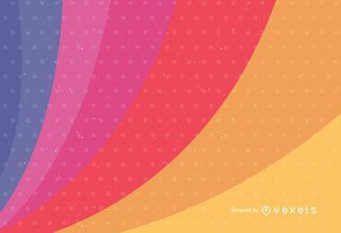 Cores do arco-íris no fundo do vetor