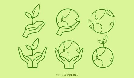 Green Theme Icons Collection