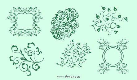 Ornamento floral inconsútil verde del vector