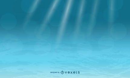 Fundo subaquático do vetor