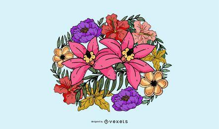 Vector de flor abstracta