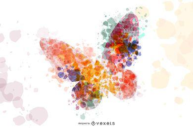Gráfico vectorial de mariposa abstracta