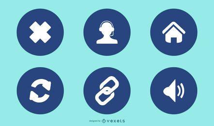 Conjunto de ícones de aplicativos para dispositivos móveis